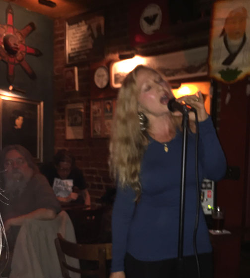 Nancy Calef performs at Specs